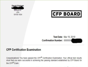 I Passed The Cfp Exam But I Doubt I Will Ever Use The Marks