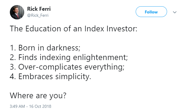 Education of an Index Investor