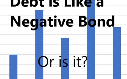 DEBT is like a NEGATIVE BOND