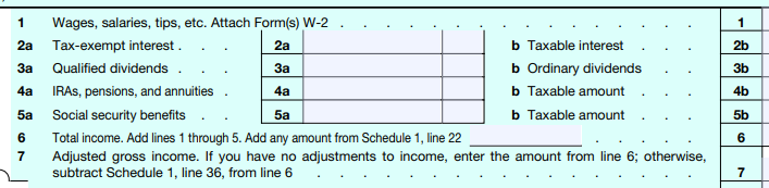 Form 1040 to calculate modified adjusted gross income