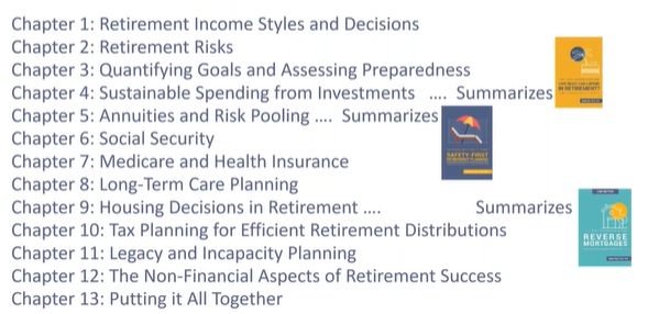 contents text book on retirement income planning